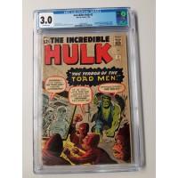 Incredible Hulk #2 CGC 3.0 1st Appearance of Green Hulk